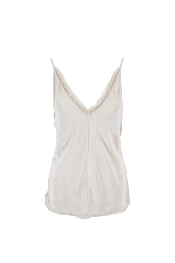 Gabriela Hearst Maria Ivory Panne Silk Velvet Tank