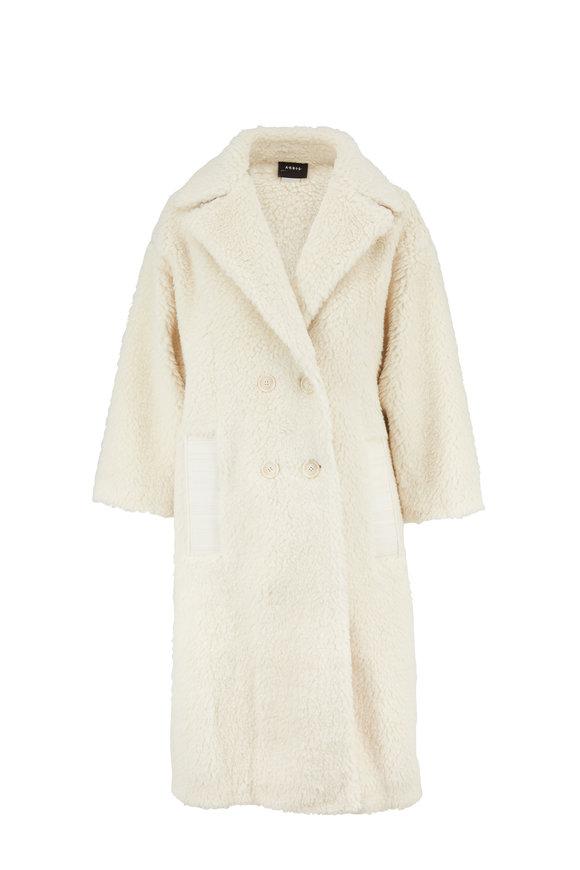 Akris Swan Camel Hair & Silk Double-Breasted Coat
