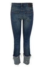 R13 - Boy Dark Wash Vintage Blue Cuffed Skinny Jean