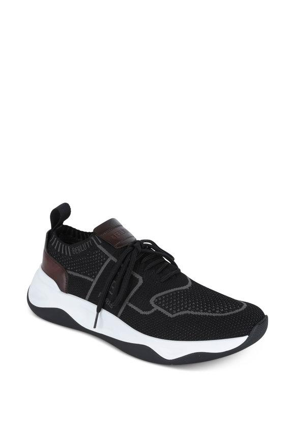 Berluti Shadow Black Knit Sneaker