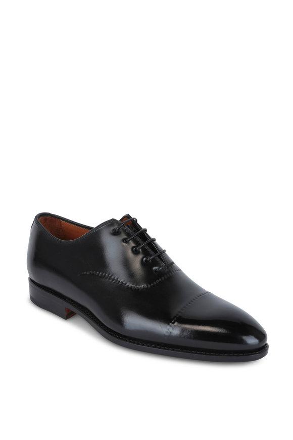 Bontoni Vittorio Black Leather Dress Shoe
