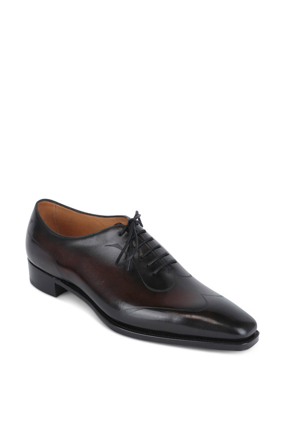 Gaziano & Girling Rennie Brown Leather Laser Cut Oxford