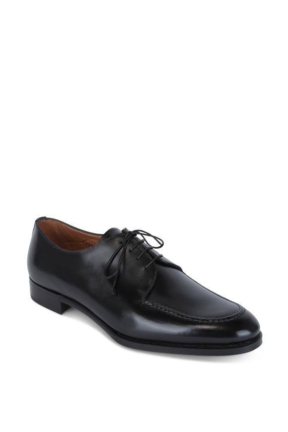Gravati Black Leather Derby Dress Shoe