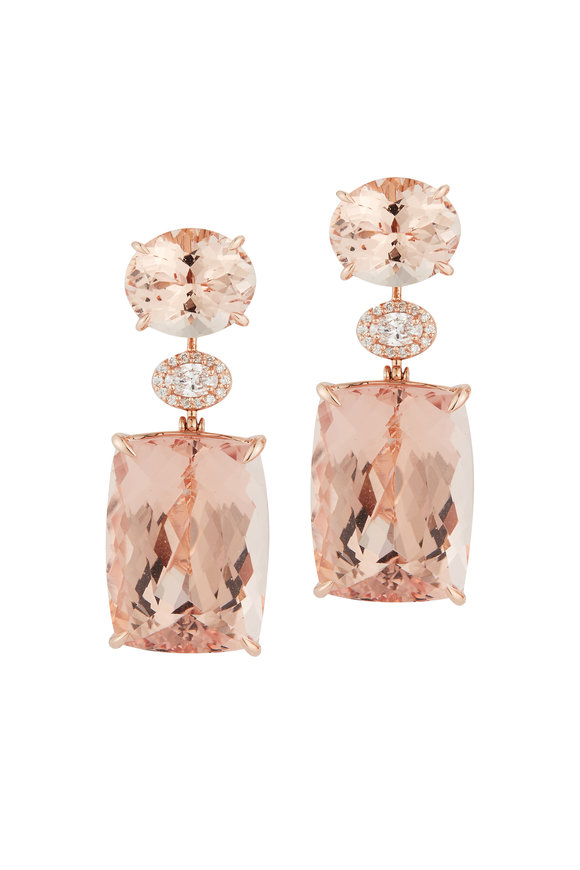 Katherine Jetter Morganite Drop Earrings