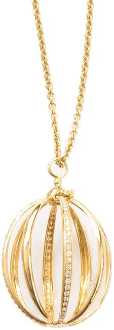 Katherine Jetter Yellow Gold & White Diamond Medium Cage Pendant