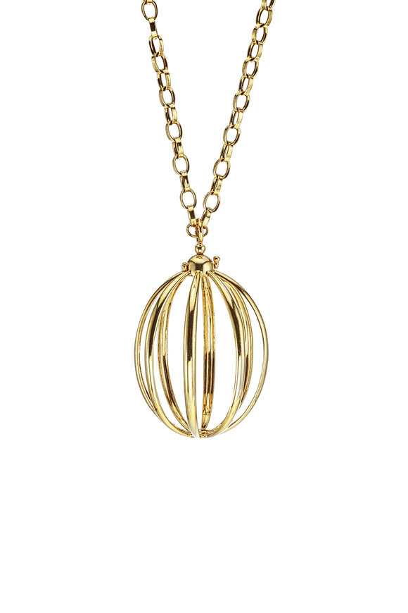 Katherine Jetter Yellow Gold Medium Cage Pendant
