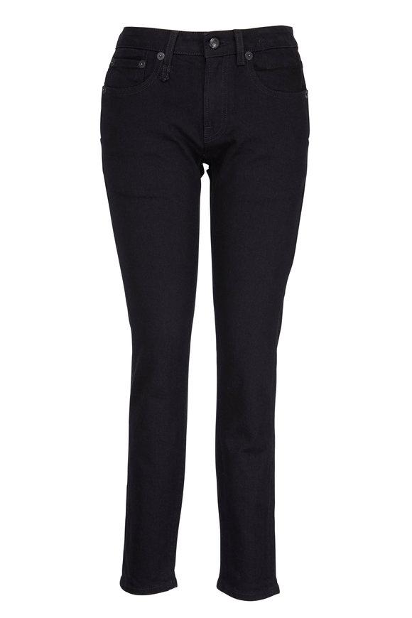 R13 Black Skinny Double Pocket Jean
