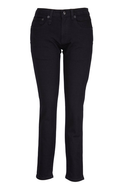 R13 - Black Skinny Double Pocket Jean