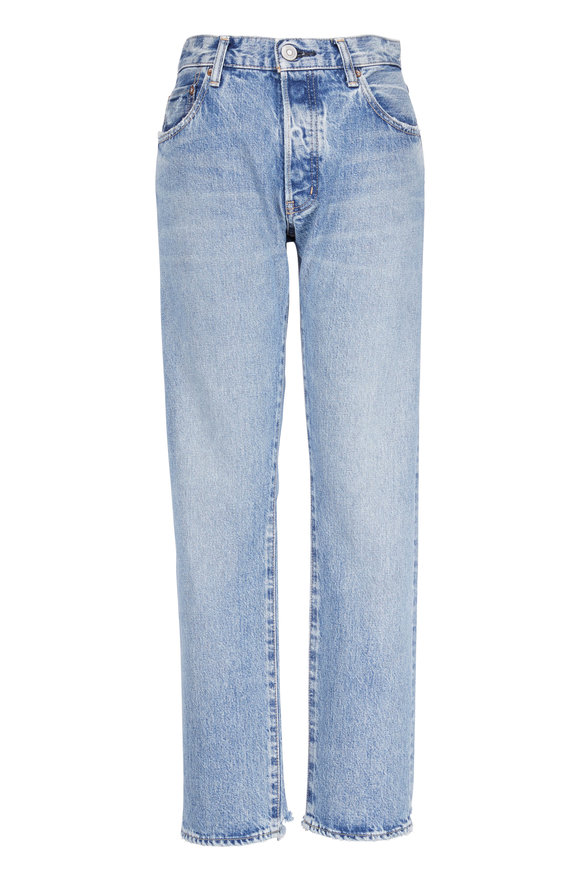 Moussy Norwalk Straight Leg Distressed Jean
