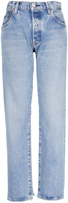 Moussy Norwalk Straight Leg Distressed Jean