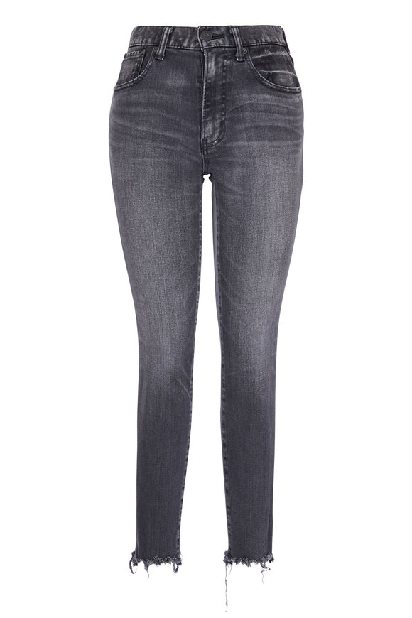 Moussy Westcliffe Light Black Distressed Hem Skinny Jean