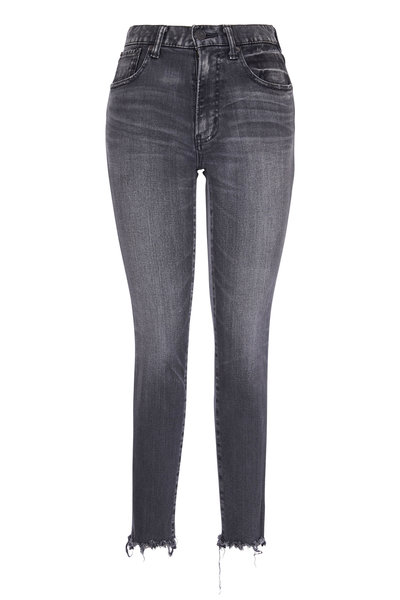 Moussy - Westcliffe Light Black Distressed Hem Skinny Jean