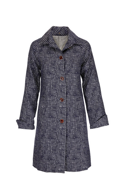 Peter Cohen - Midnight Wool Printed Boxy Coat