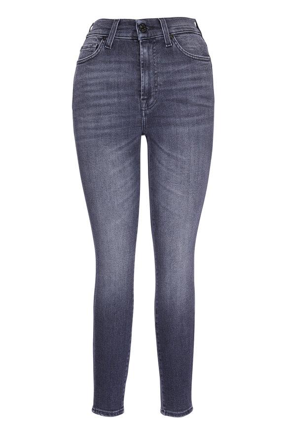 7 For All Mankind Gray Vintage Honest High Waist Skinny Jean