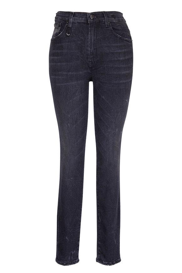 R13 Black Marble High Rise Skinny Jean
