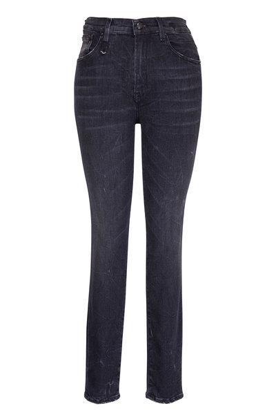 R13 - Black Marble High Rise Skinny Jean
