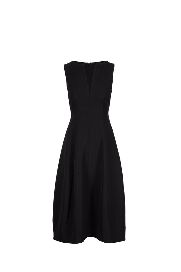 CO Collection Black Textured Sleeveless Dress