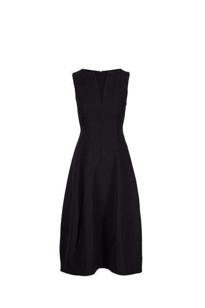 CO Collection - Black Textured Sleeveless Dress