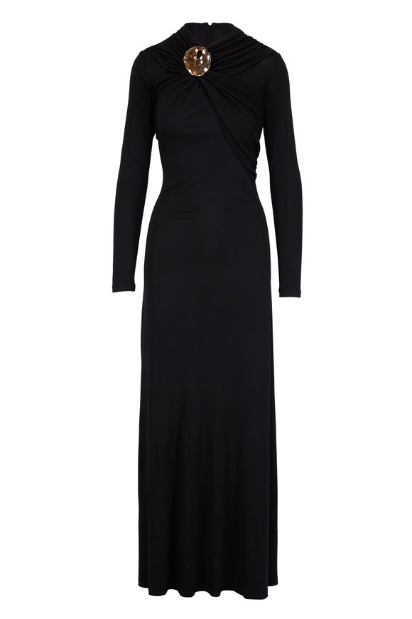 CO Collection Black Long Sleeve Jersey Gown