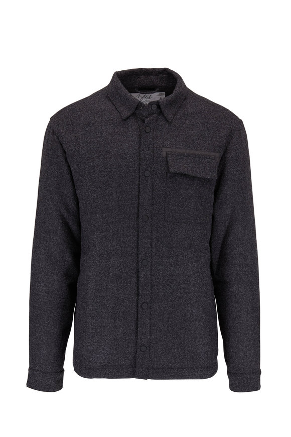 Aztech Mountain Charcoal Stretch Wool Overshirt