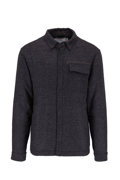 Aztech Mountain - Charcoal Stretch Wool Overshirt