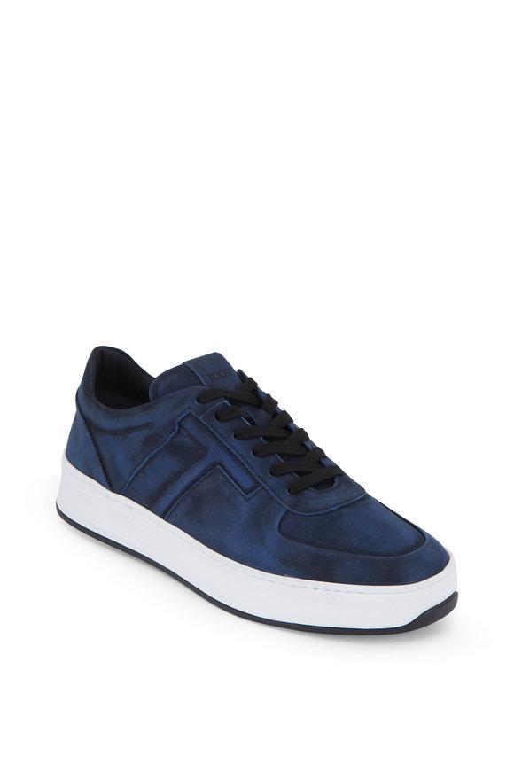 Tod's Dark Blue Nubuck Sneaker