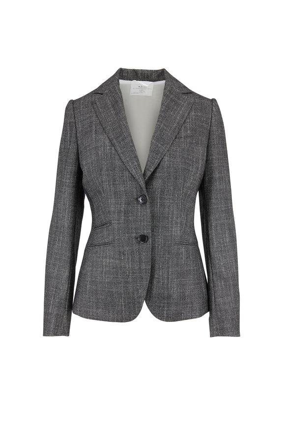 Kiton Gray Textured Suit Jacket