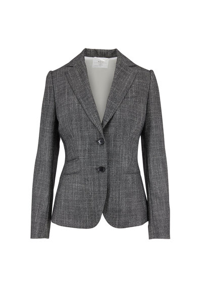 Kiton - Gray Textured Suit Jacket