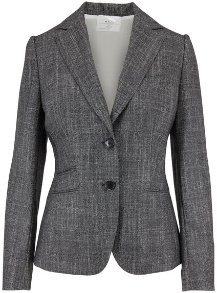 Kiton Gray Textured Suit Jacket