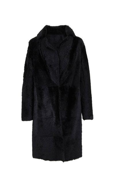 Vince - Black Lamb Shearling Long Coat