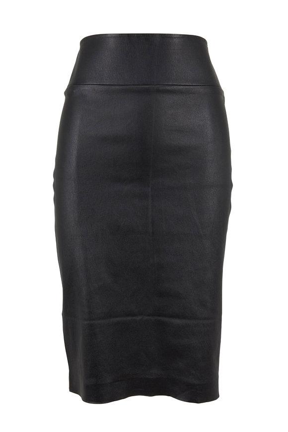 SPRWMN LLC Black Leather Pencil Skirt