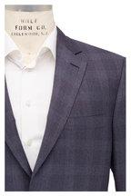 Brioni - Slate Gray Wool Plaid Suit