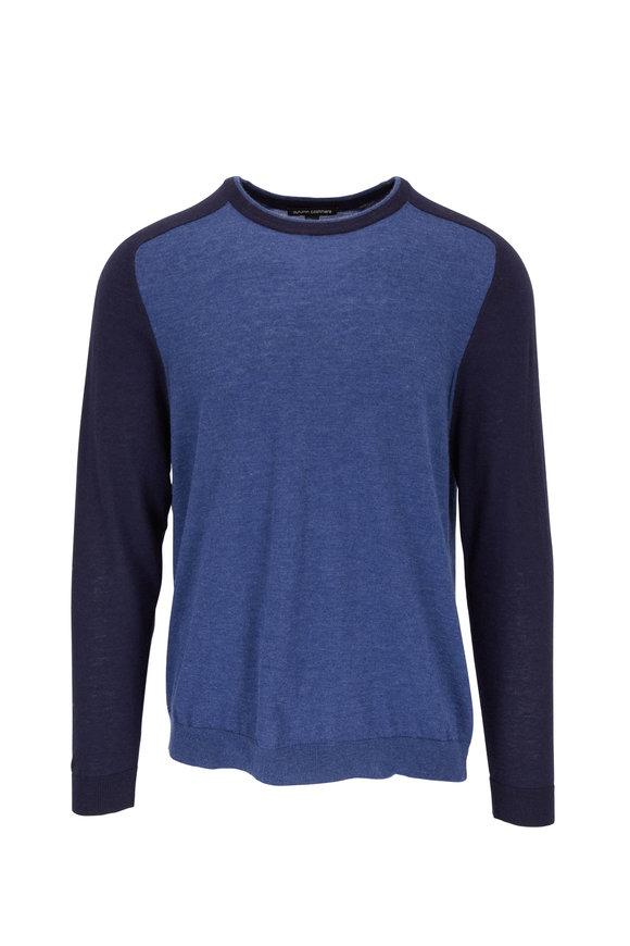 Autumn Cashmere Indigo & Peacoat Colorblock Cashmere Pullover