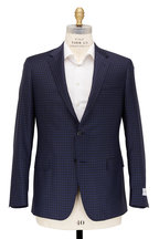 Samuelsohn - Bennet Black & Navy Blue Check Wool Sportcoat