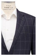 Samuelsohn - Navy Tonal Houndstooth Wool Sportcoat