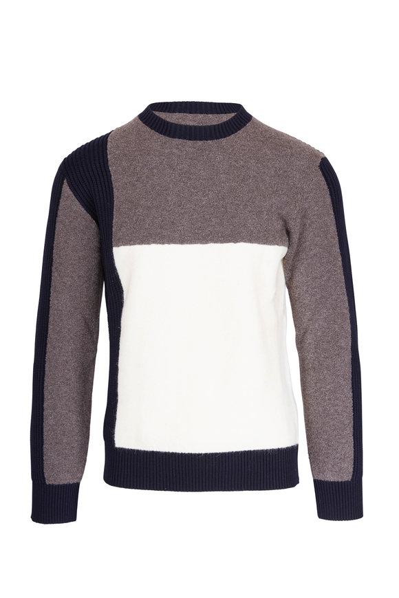 Z Zegna Multicolor Wool & Alpaca Colorblock Sweater