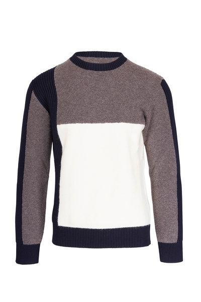 Z Zegna - Multicolor Wool & Alpaca Colorblock Sweater