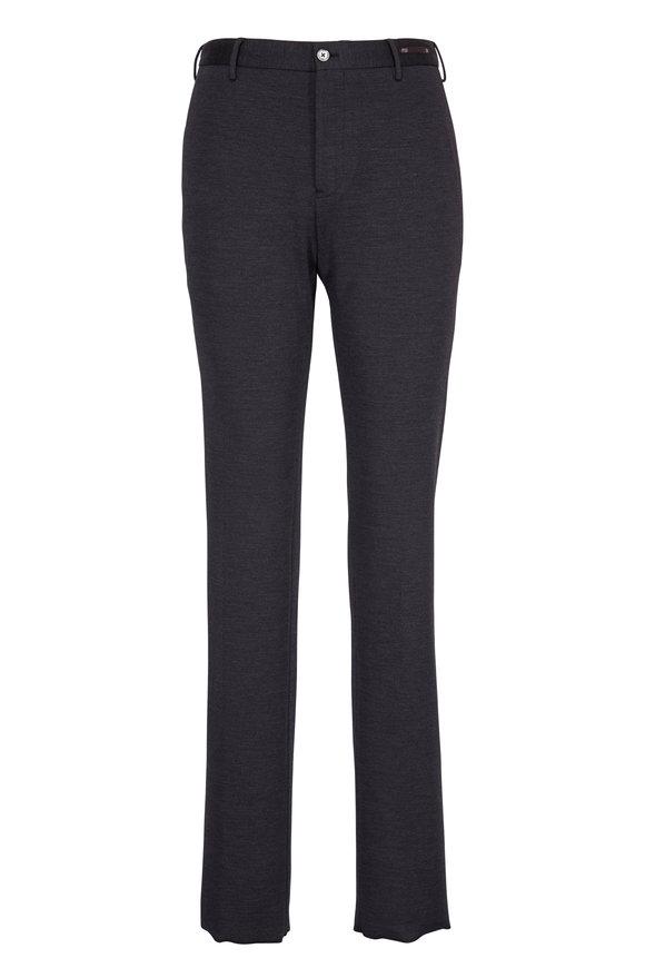 PT Pantaloni Torino Charcoal Wool & Cotton Jersey Pant