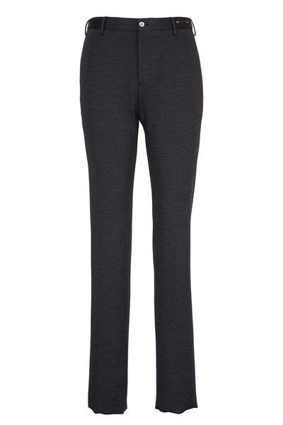 PT Pantaloni Torino - Charcoal Wool & Cotton Jersey Pant