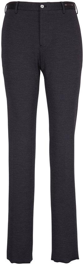 PT Torino Charcoal Wool & Cotton Jersey Pant