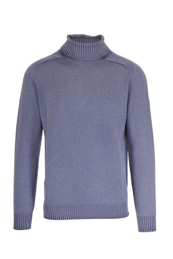 04651/ Foggy Navy Wool Turtleneck