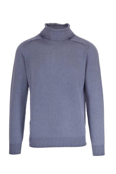 04651/ - Foggy Navy Wool Turtleneck