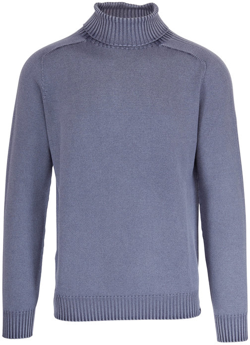 04651/ Foggy Navy Wool Turtleneck