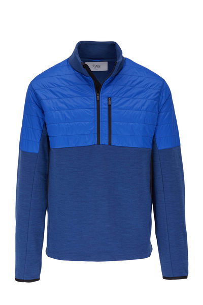 Aztech Mountain - Bora Bora Blue Half Quilted Quarter-Zip Jacket