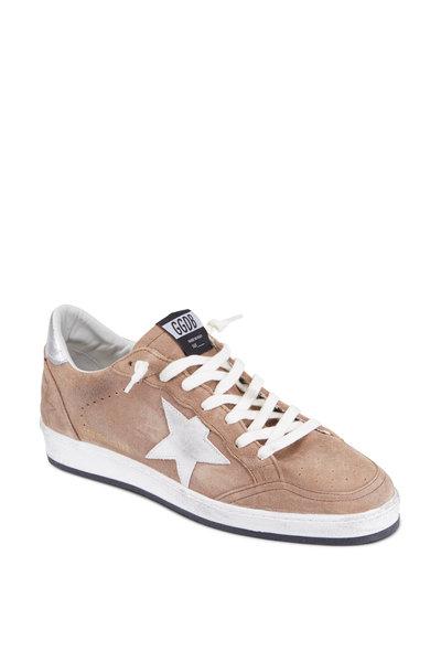 Golden Goose - Mens Cognac Suede Silver Star Sneaker