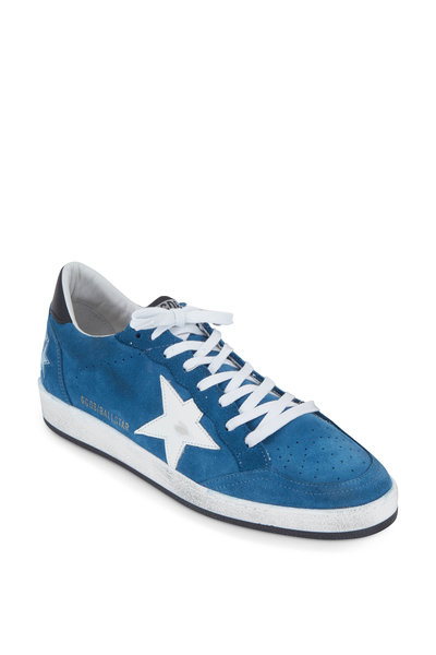 Golden Goose - Men's Ball Star Blue Suede Sneaker