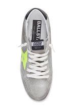 Golden Goose - Men's Light Grey Suede Yellow Star Sneaker