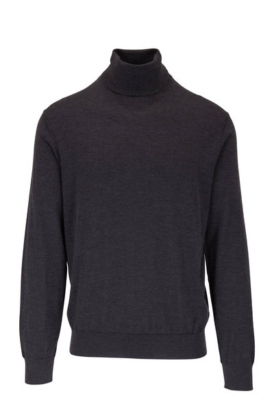 Ermenegildo Zegna - Charcoal Gray Cashmere & Silk Turtleneck