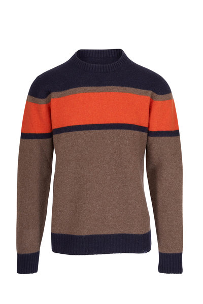 04651/ - Brick Wool Striped Sweater