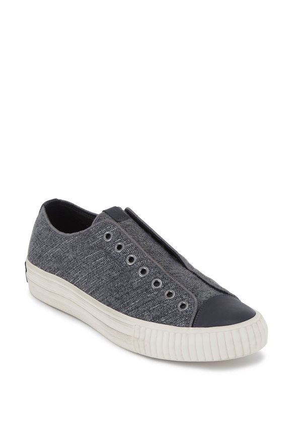 John Varvatos Lead Tweed Laceless Low-Top Sneaker